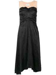 Maison Martin Margiela Flared Midi Dress Black