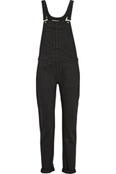 Rag And Bone Stretch Denim Overalls Black