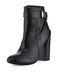 Cnc Costume National Strappy Leather Ankle Boot Black