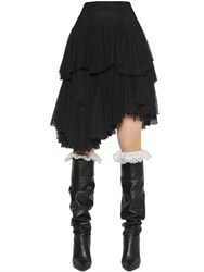 Philosophy Di Lorenzo Serafini Ruffled And Tiered Swiss Dot Lace Skirt