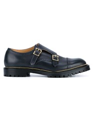 Kolor Leather Monkstrap Brogues Blue