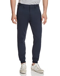 Hugo Boss Green Loomes Woven Straight Fit Jogger Pants Navy