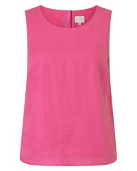 East Linen Shell Top Pink
