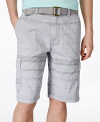 American Rag Men's Stripe Cargo Shorts Only At Macy's Sterling Grey