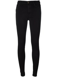 7 For All Mankind Five Pocket Skinny Trousers Black