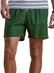 Barbour Flag Print Swim Shorts Green