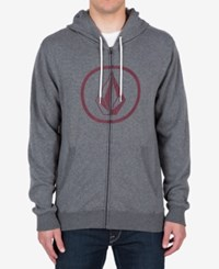 Volcom Men's Zip Up Hoodie Blue Air