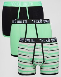 Ecko Unlimited 3 Pack Trunks Green Set Green