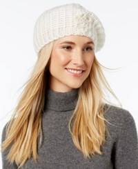 Inc International Concepts Crochet Flower Beret Only At Macy's Ivory