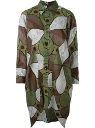 Junya Watanabe Comme Des Gara Ons Floral Print Relaxed Fit Button Down Shirt Green