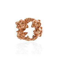 Lee Renee Rose Halo Lapel Pin Rose Gold Pink Purple Red
