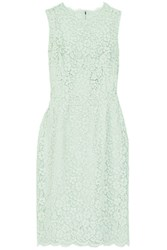 Dolce And Gabbana Corded Cotton Blend Lace Dress Mint