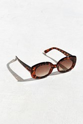 Urban Outfitters Chunky Squared Oval Sunglasses Brown Multi