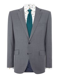 New And Lingwood Paltree Textured Suit Jacket Grey