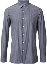 Raf Simons Pinstriped Button Down Shirt Grey