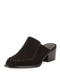 Rag And Bone Weiss Studded Suede Flat Mule Black Suede