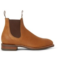 R.M.Williams Comfort Craftsman Suede Chelsea Boots Tan