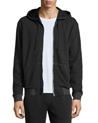 Atm French Terry Zip Up Hoodie Charcoal