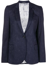 Paul Smith Ps By Classic Single Breasted Blazer Blue