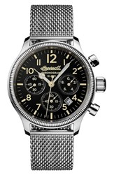 Ingersoll Watches Men's Apsley Chronograph Mesh Strap Watch 45Mm Silver Black Silver