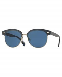 Oliver Peoples Shaelie Monochromatic Semi Rimless Sunglasses Navy