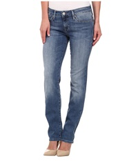 Mavi Jeans Kerry Mid Rise Straight Leg In Light Nolita Light Nolita Women's Jeans Blue