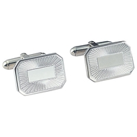 Carrs Of Sheffield Carrs Sunrise Engraved Rectangle Cufflinks Sterling Silver