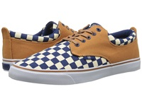 Radii The Jax Tan Navy Checker Canvas Men's Shoes Multi