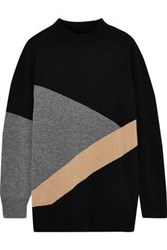 Chinti And Parker Intarsia Wool Cashmere Blend Sweater Black