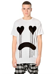 Long Clothing Drippy Printed Jersey Oversized T Shirt