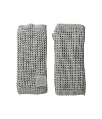 Hat Attack Waffle Knit Arm Warmer Light Grey Extreme Cold Weather Gloves Gray