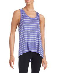 Marc New York Striped Knit Tank Top Purple