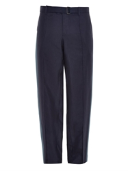 Valentino Bi Colour Relaxed Fit Silk Trousers