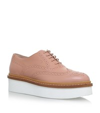 Tod's Xl Lace Up Brogues Female Peach