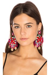 Ranjana Khan Statement Earring Red