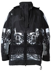 Sacai Tribal Lace Military Jacket Black