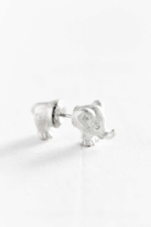 Urban Outfitters Elephant Front Back Post Earring Silver