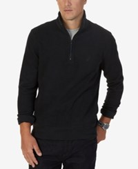 Nautica Men's Windward Quarter Zip Sweater Spicedam Brown