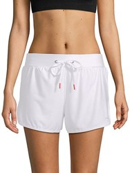 X By Gottex Drawstring Track Shorts White