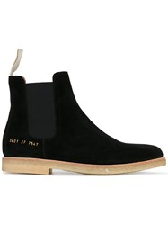 Common Projects Chelsea Boots Unisex Leather Suede Rubber 37 Black