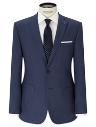 Daniel Hechter Textured Marl Tailored Fit Suit Jacket Blue