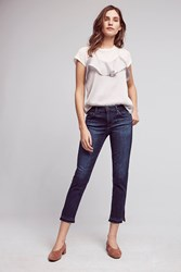 Anthropologie Ag Stevie Mid Rise Crop Jeans Denim Medium Blue