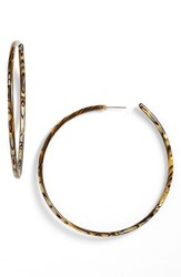 L. Erickson Women's L Erickson 'Jumbo' Hoop Earrings Onyx