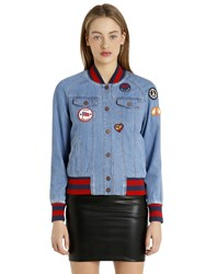 Tommy Hilfiger Gigi Hadid Patches Denim Bomber Jacket