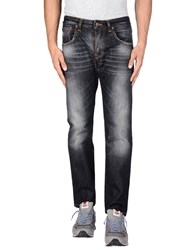 People Denim Denim Trousers Men Black