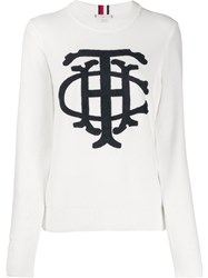Tommy Hilfiger Knitted Cotton Jumper White
