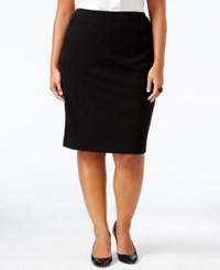 Nine West Plus Size Crepe Skirt Black