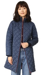 Ganni Greenwood Quilted Coat Total Eclipse