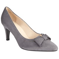 Peter Kaiser Valona Bow Pointed Toe Court Shoes Grey