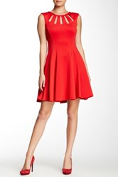 Betsey Johnson Cutout Fit And Flare Dress Red